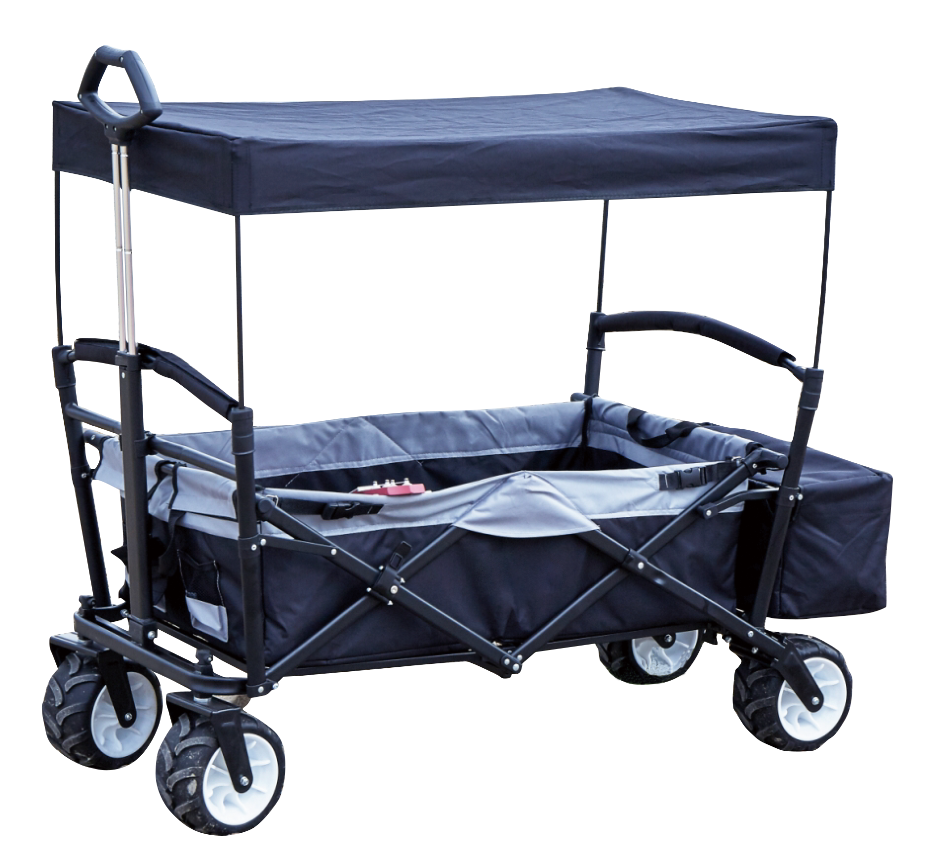 All Terrain Folding Wagon With Canopy