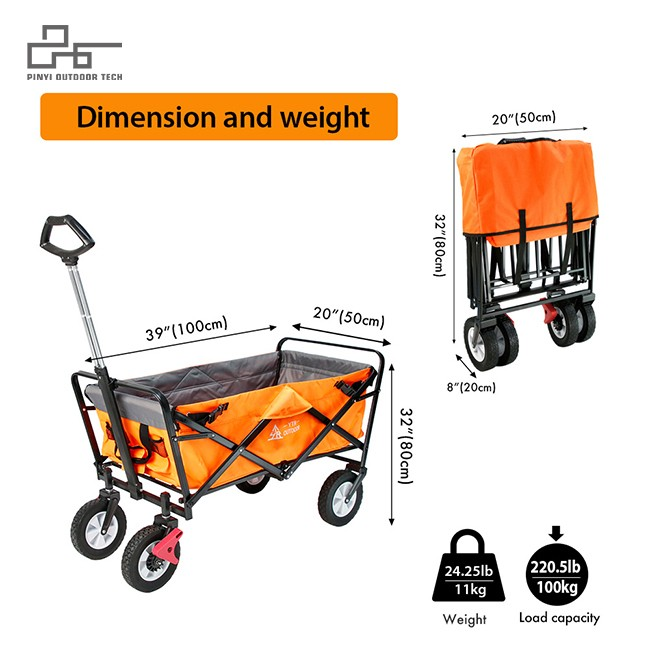 Folding Wagon With Break