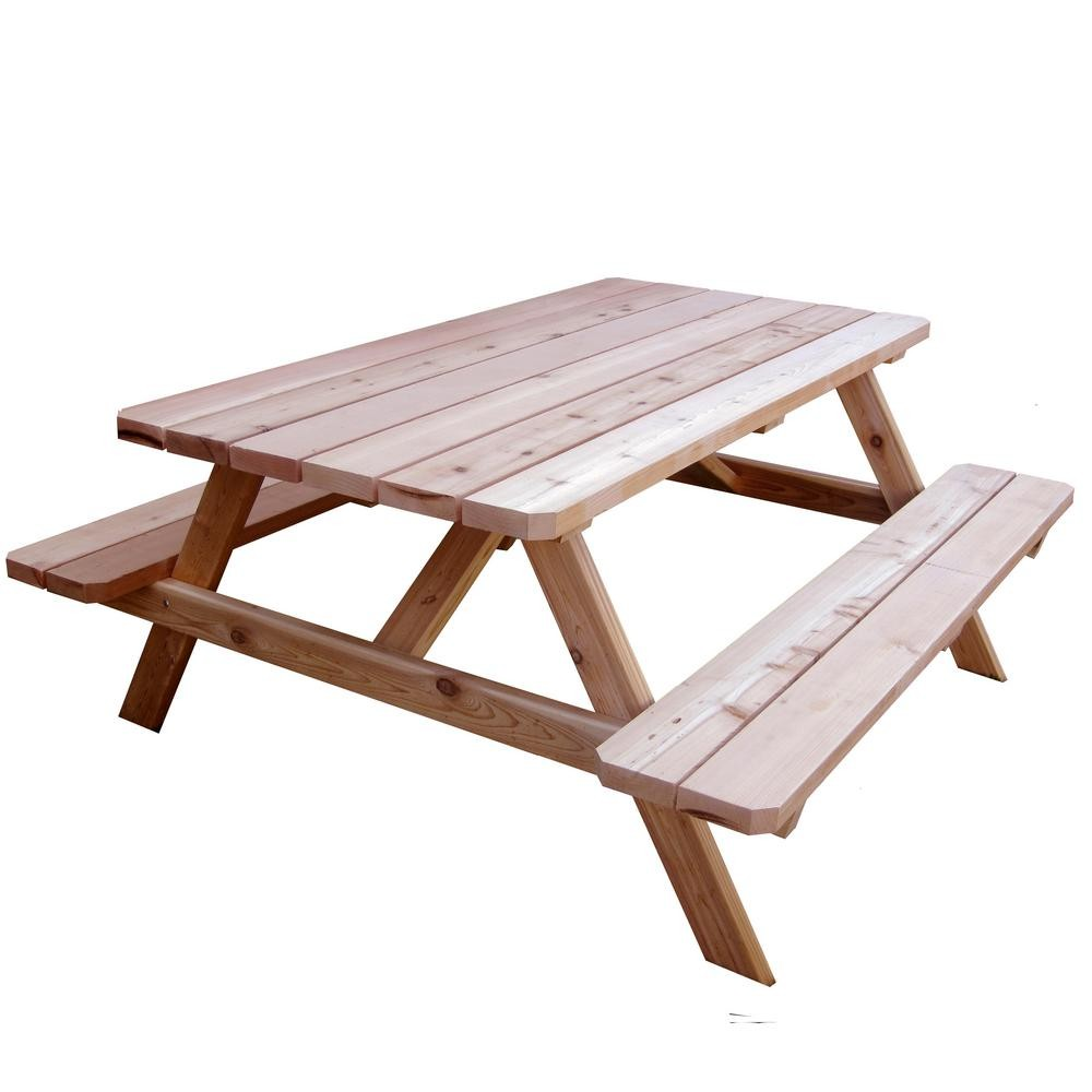 Wooden Bench Patio Picnic Table