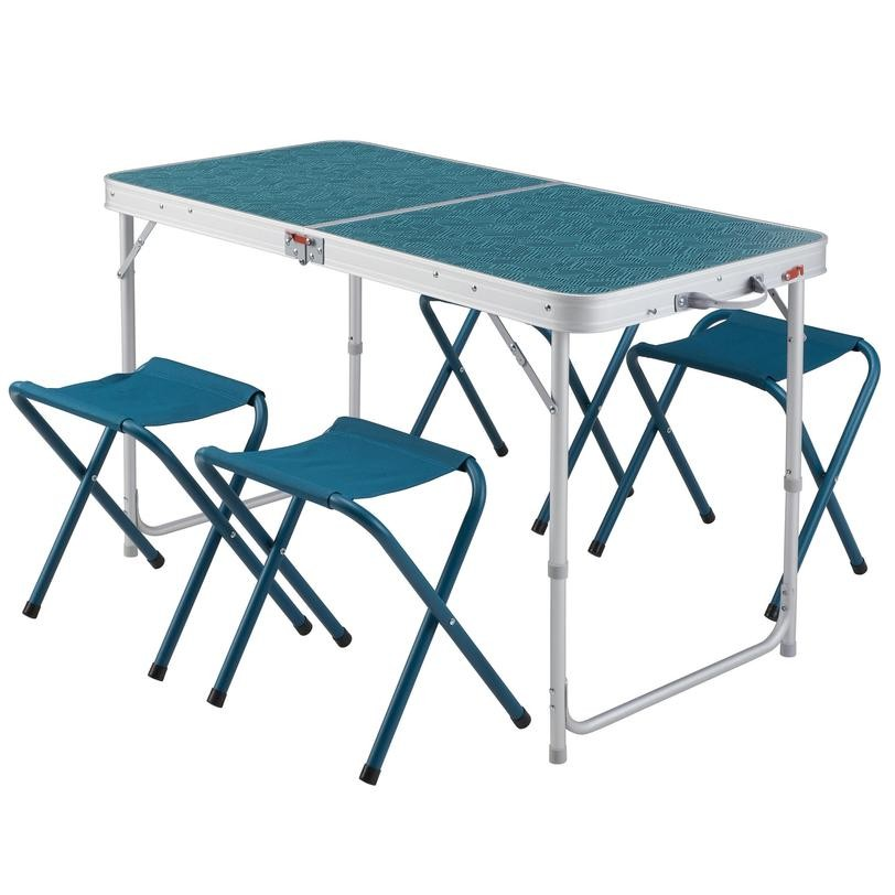 Decathlon Camping Folding Table - 4 Stools