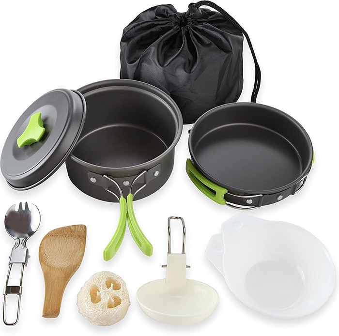 8pcs Ultralight Backpacking Cookware