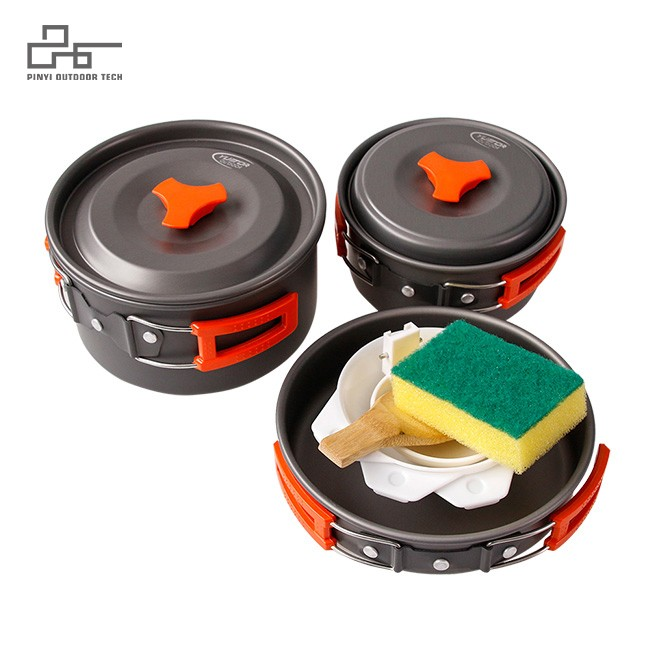 2-3 Person Campfire Utensils Non-Stick Cooking Equipment
