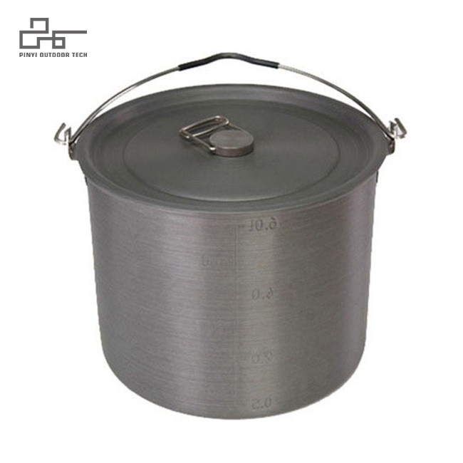 Camping Tribal Pot With Folding Handle