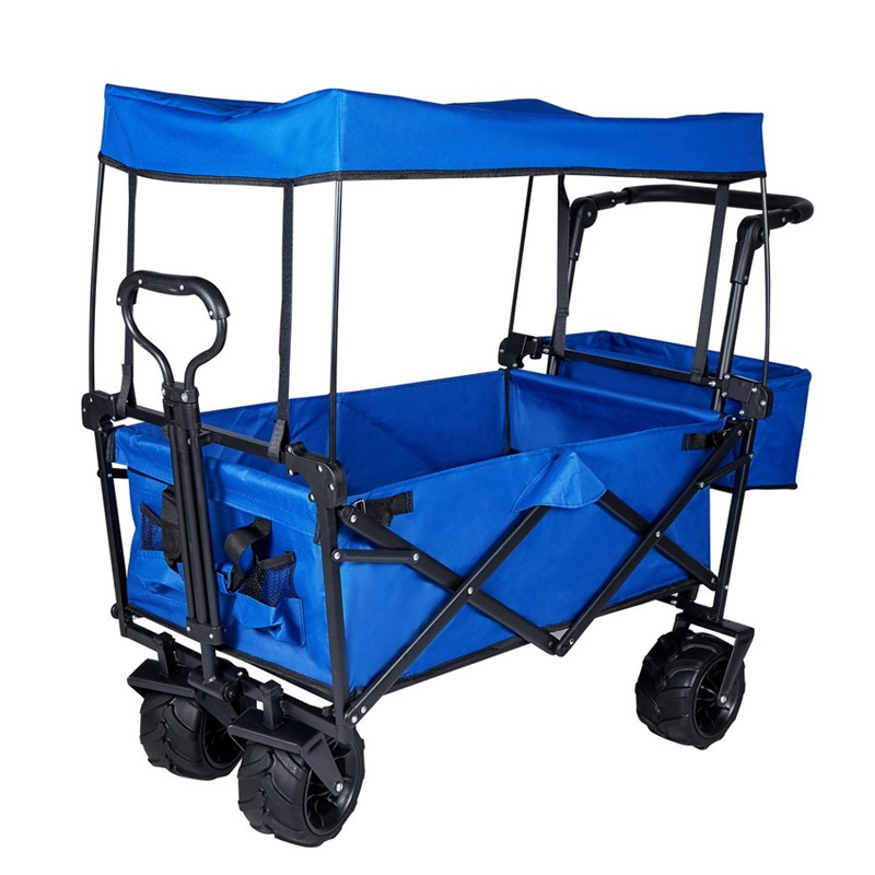 Outdoor Camping Beach Wagon with Canopy