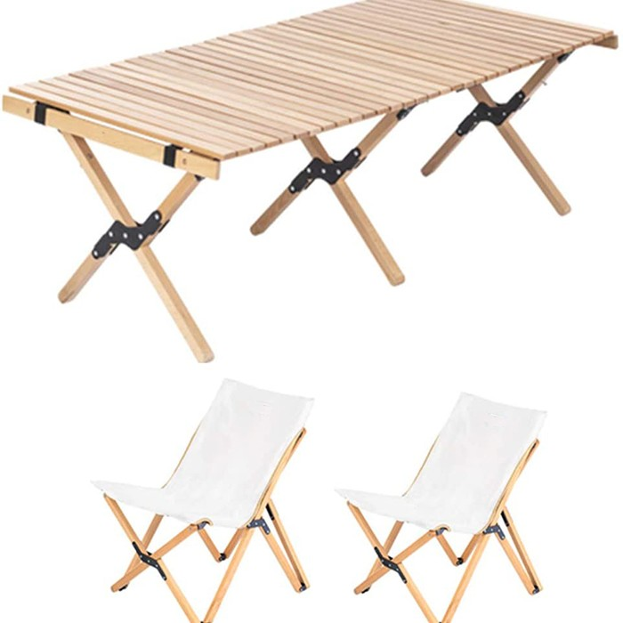 Outdoor Portable Folding Table and Chair Set
