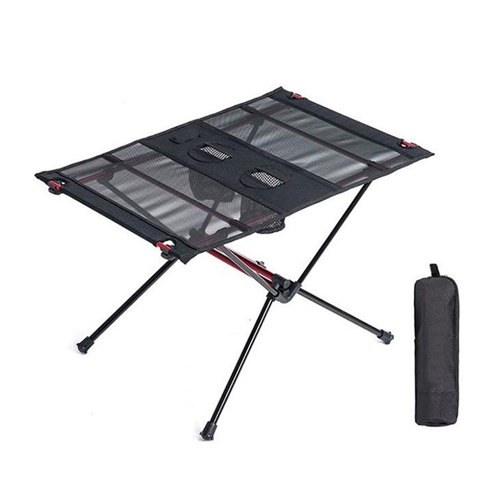 Lightweight Folding Camping Picnic Table With Cup Holder