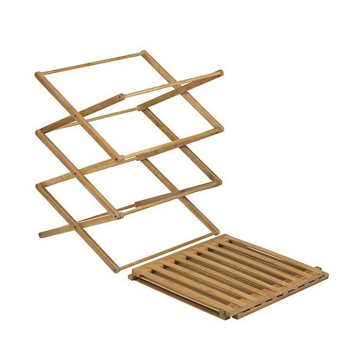 Camping Bamboo Foldable Cupboard