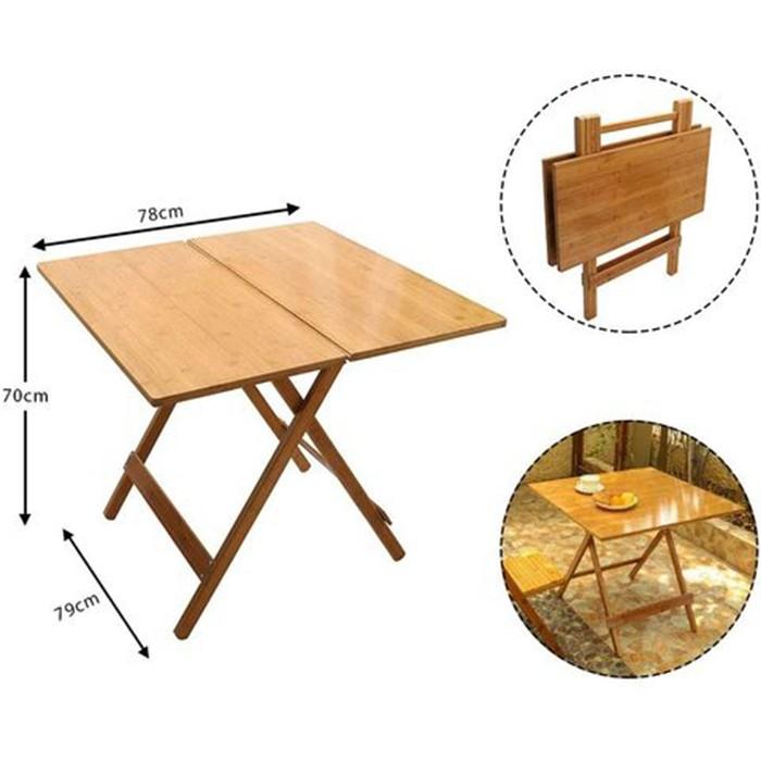 Natural Bamboo Outdoor Folding Camping Picnic Table