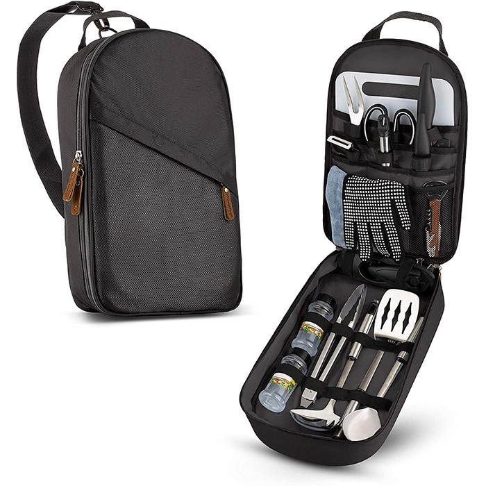 13pcs Travel Organizer Grill Accessories Portable Compact Gear
