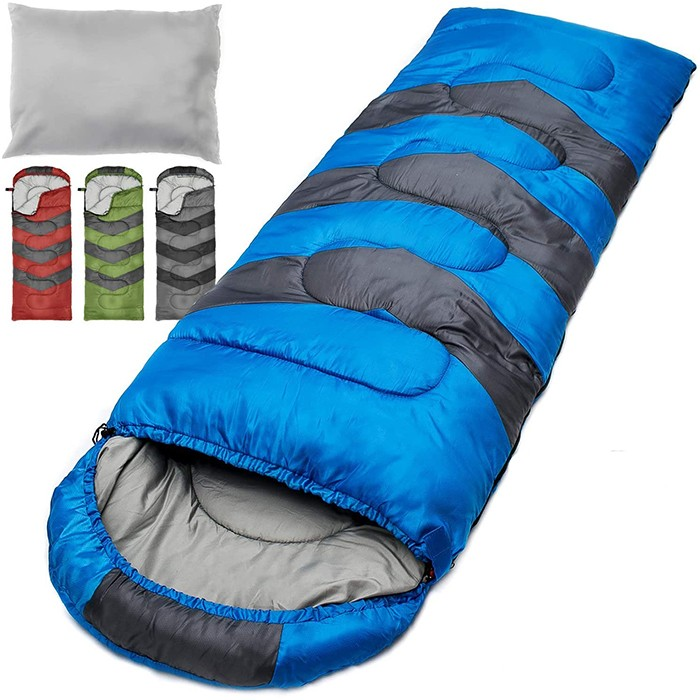 Camping Sleeping Bag With Travel Pillow