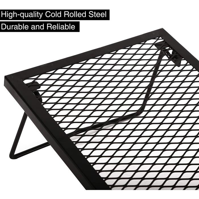 Folding Campfire Grill Heavy Duty Steel Grate