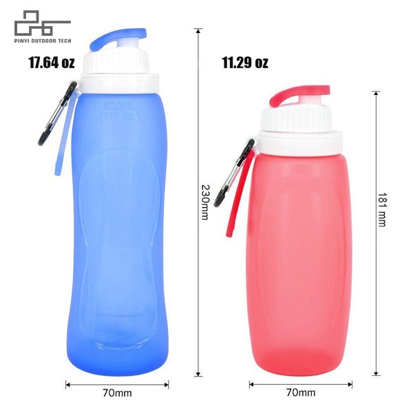 Silicone Collapsible Water Bottles