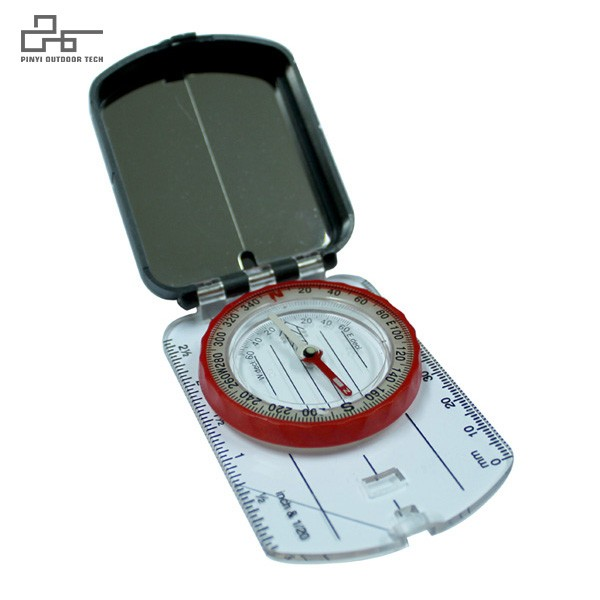 Map Compass with Mirror