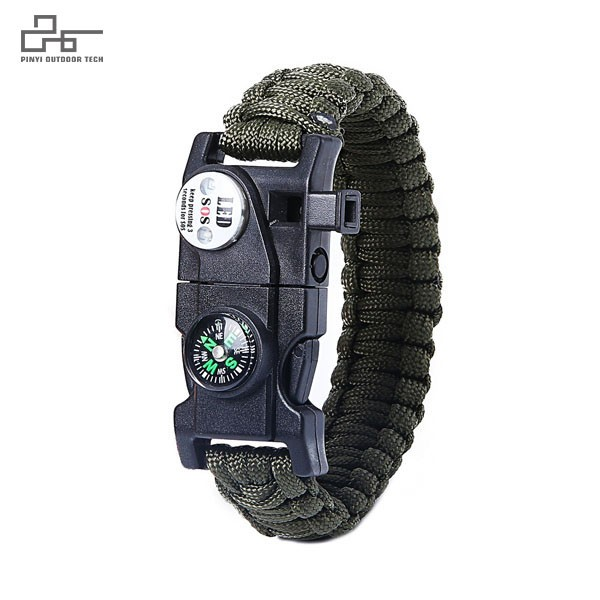 SOS LED Survival Paracord Bracelet 9 inch
