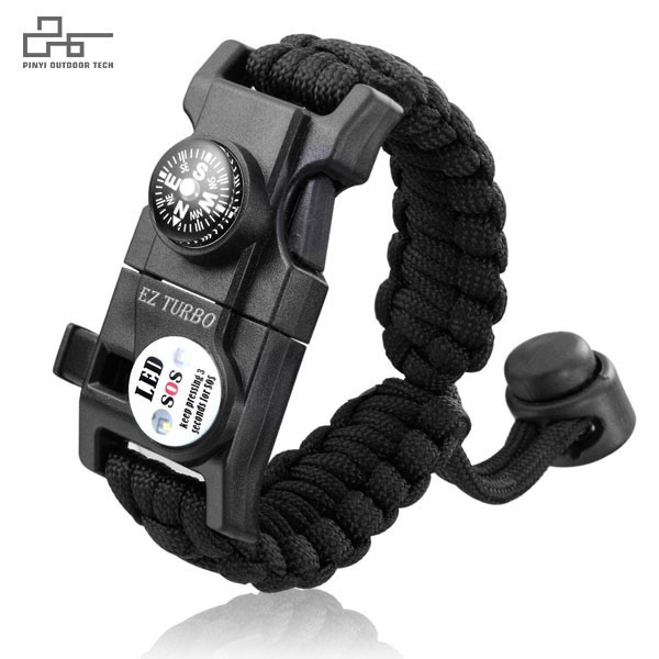 SOS LED Survival Paracord Bracelet Adjustable