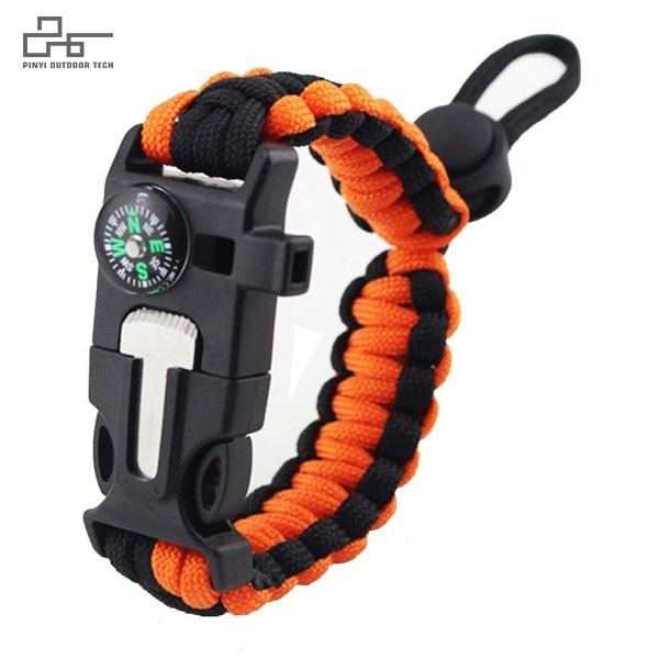 Survival Paracord Bracelet Adjustable