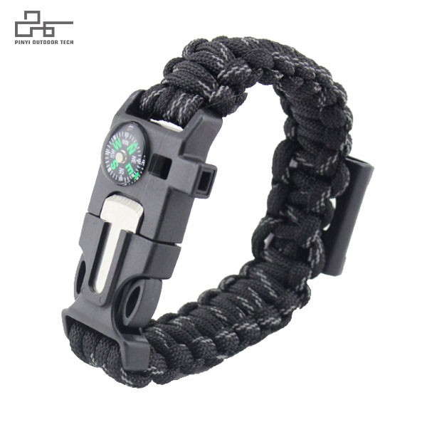 Survival Paracord Bracelet with Bottle Opener