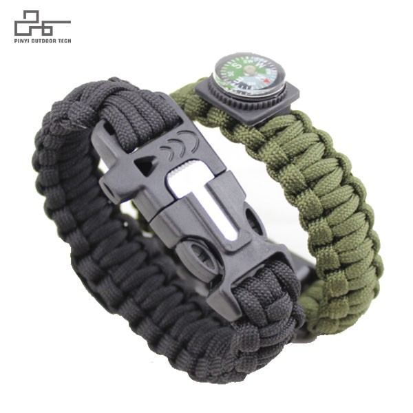 Survival Paracord Bracelet with Compass