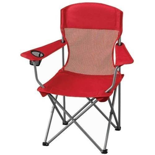 Basic Mesh Folding Camp Chair with Cup Holder for Outdoor