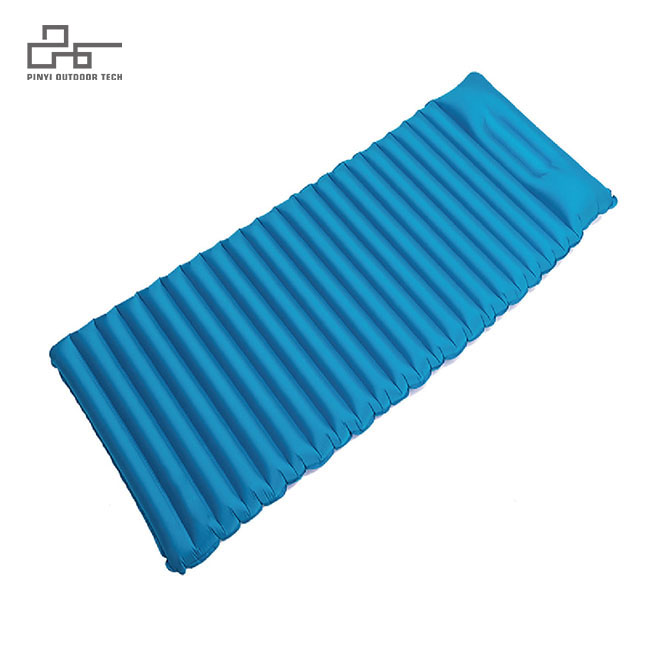 Widening Stripe Inflatable Pad With Pillow