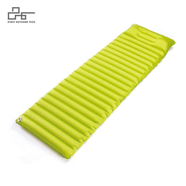 Stripe Inflatable Pad With Pillow