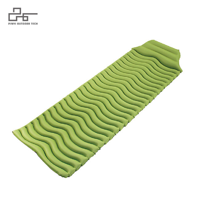 Ripple inflatable pad with Trapezoid Pillow