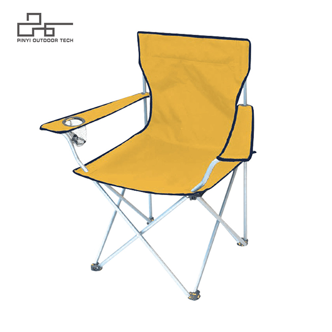 Portable Folding Chair with Arm Rest Cup Holder
