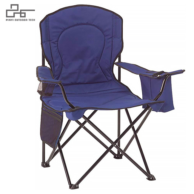 Portable Camping Quad Chair with Cooler