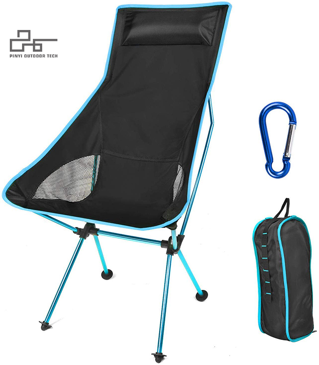 High Back Lightweight Camp Chair with Removable Pillow