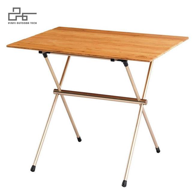 Bamboo Top Folding Camp Table