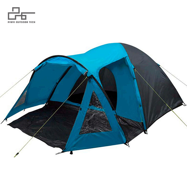 Peak Four Rooms Dome Tent With Porch