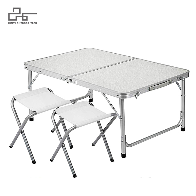 4-Person Folding Picnic Table with 4 Stools
